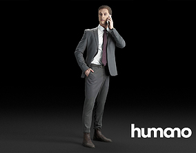 3D model Humano Elegant Business Man Standing and calling