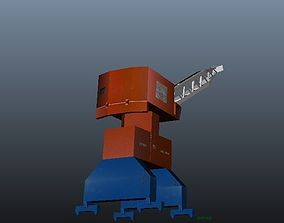 3D model Port and Shipping Crane