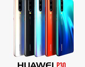 Huawei P30 Full color 3D model