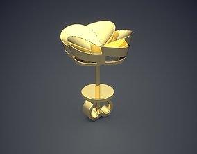 3D print model Flower Motif Brooch CAD-6583