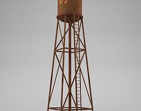 3D asset Water tower 02