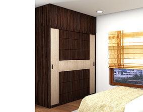 3D model wardrobe design bedroom detail bedhead details