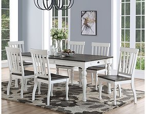 Jarett Extendable Dining Table 3D