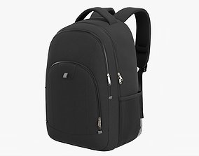 3D model Backpack with compartment for laptop