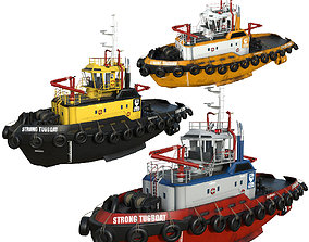 collection Tugboats 30m 3D asset