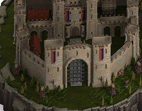 3D model VR / AR ready Medieval Castle