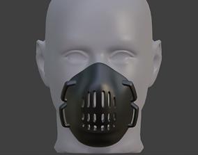 3D printable model FREE reusable respirator mask 2