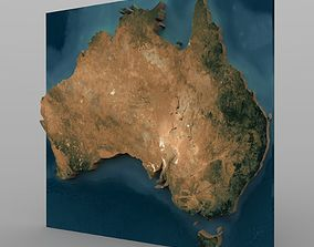 Australia With Texture in 3ds and obj formats