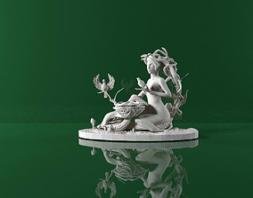 lady wood nymph figurine for 3D printing