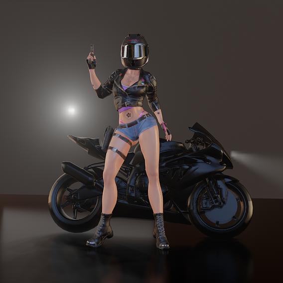 Lady Biker Rig