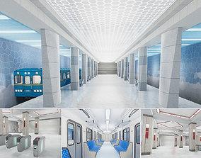 3D asset Subway Station 01