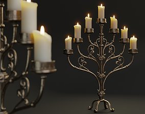 3D asset Table Candle Holder B