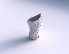Vase vortex smooth with cavities smooth 3D printable model