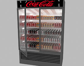 3D model low-poly Market Refrigerator