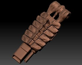 3D printable model predator 2 shoulder cannon plasma
