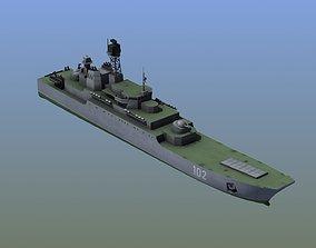 3D asset Ropucha Landing Ship