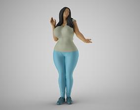 Girl Touching Rain Through Window 3D printable model