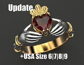 3D print model Claddagh ring