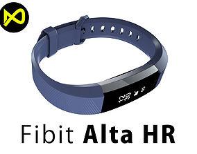 Fitbit Alta HR Blue Gray Steel 3D model