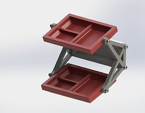 Wall mounted tray for keys tools ETC 2 shelf model