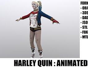 3D model animated Harley Quinn