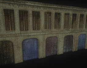Yellow Classic Old Industrial Building 3D model