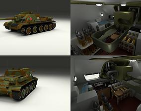 SU 100 with Interior Camo 3D