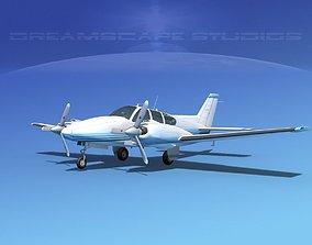 Beechcraft B55 Baron V15 3D