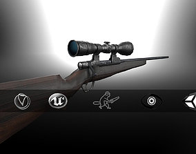 Hunting Sniper Rifle GR-LowPoly 3D model