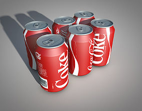 Can of Coke textured 3D