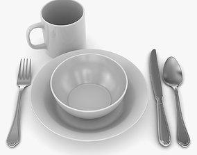3D asset Dinnerware
