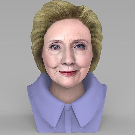 Hillary Clinton bust for 3D printing