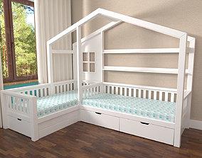 3D Corner bed House