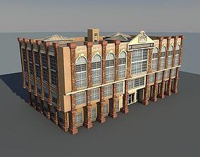 3D model Lowpoly Vintage Building 02