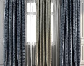 Curtain Set 296 3D model