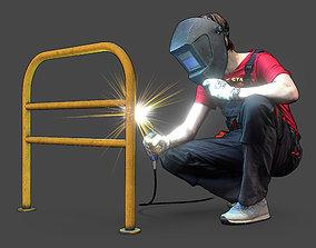Stylized Welder Character 3D model