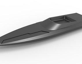 Speed boat key fob 3D printable model