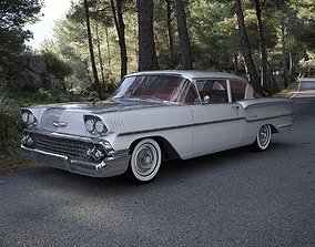 1959 Chevrolet Delray 2-Door Sedan 1958 3D model