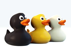 Rubber Duck Set 3D model game-ready