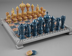 3D printable model chess double set