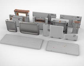 3D model sci-fi Architecture kitbash 33