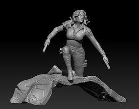 3D printable model Black Widow Diorama in Snow Suit