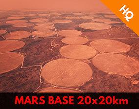 Mars Base Mars Landscape Red Planet Environment 3D asset 1