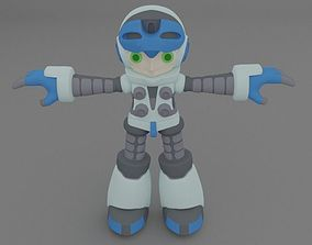 Mighty no 9 character Beck 3D model