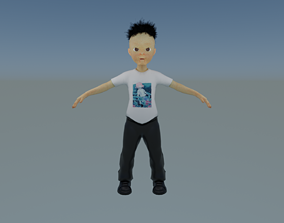 Rich Roddy Boy Fully Rigged ready For Animation 3D asset 1