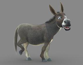 Donkey 3D model animated