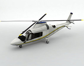 Agusta 109 Helicopter 3D model