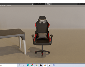 DXRACER GAMING CHAIR 3D model