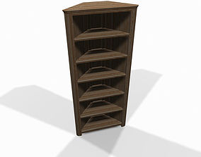 3D model Wooden corner shelf