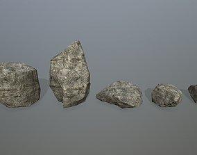 3D asset VR / AR ready rocks environment